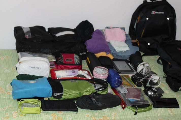 packing list for a rtw trip all the necessary items gear and
