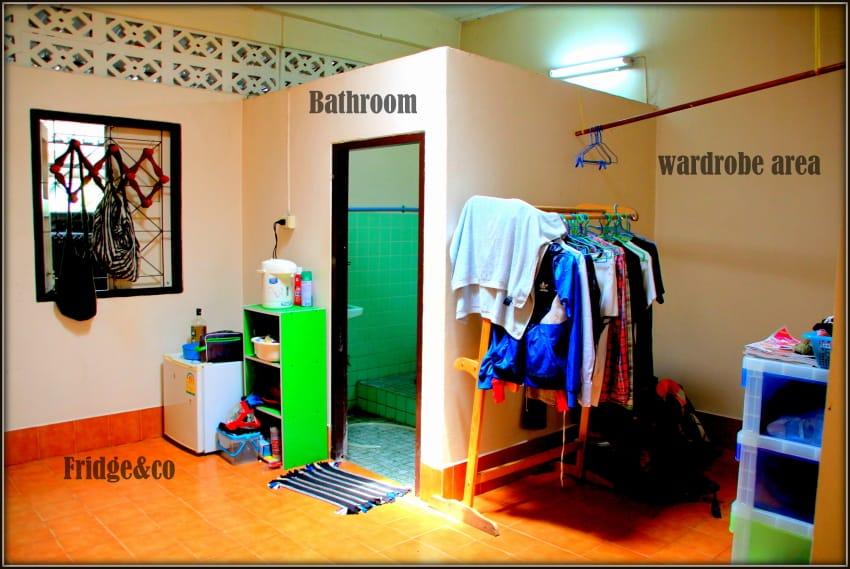 8 wardrobe bathroom and fridge