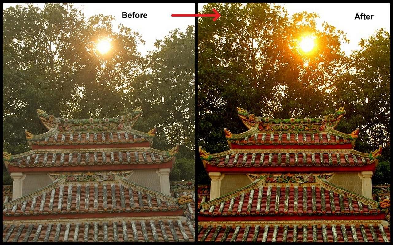 Example of Before/After Editing using Picasa and Paint