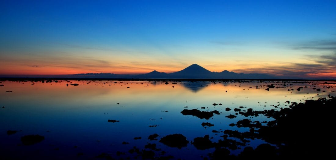 Blue sunset at Gili Islands Indonesia