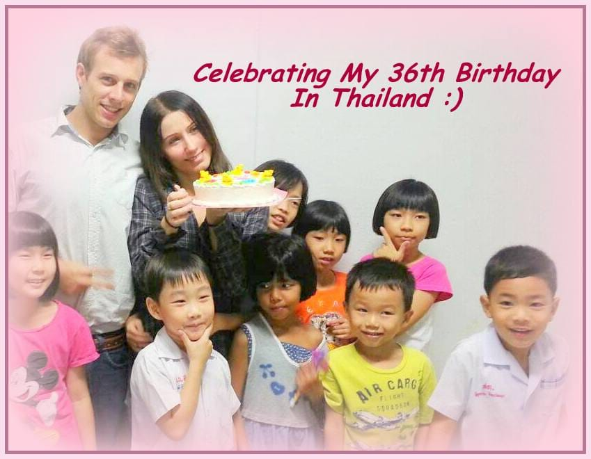Birthday in Thailand