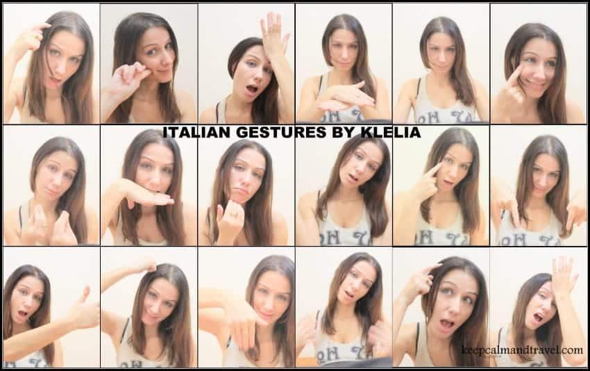 Italian gestures collage