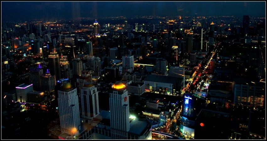 The revolving Roof deck in Pratunam bayioke bangkok by night bangkok view, bangkok by bus