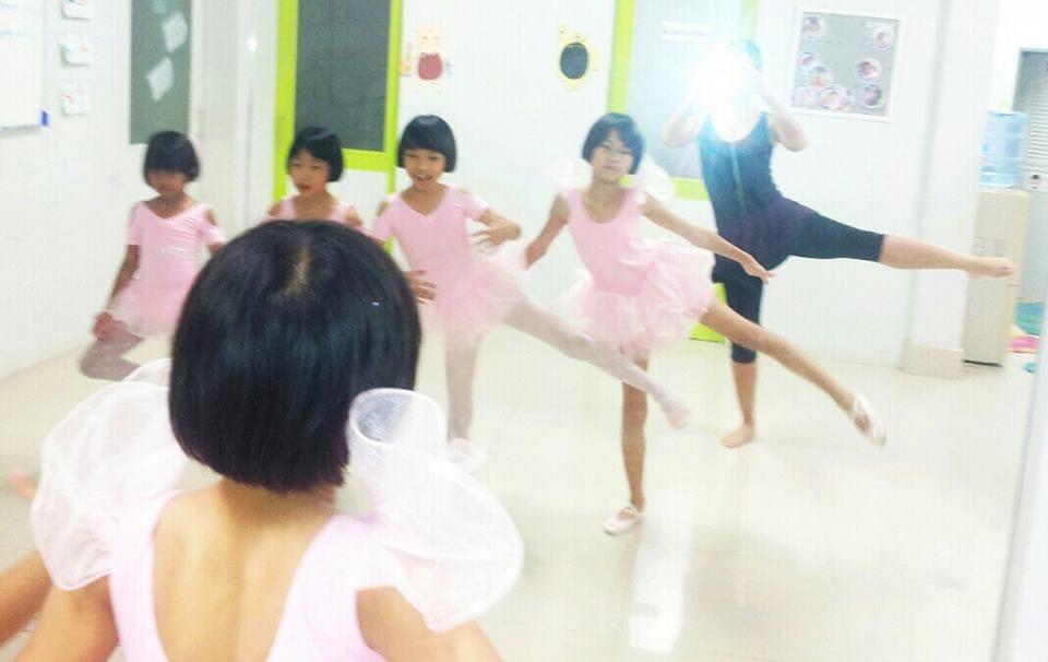 Teaching ballet!