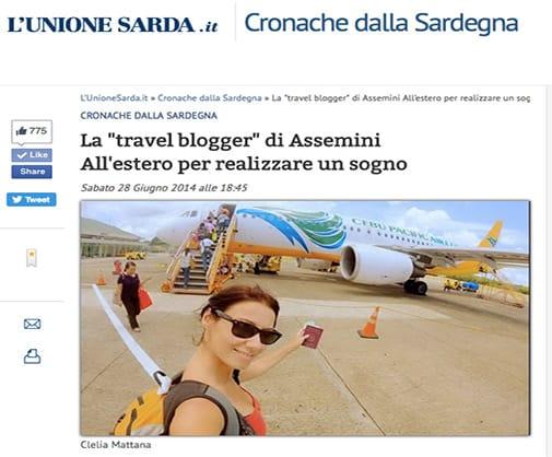 clelia_mattana_unione_sarda_travel_blogger