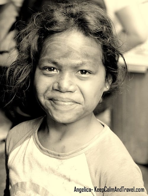 Young Angelica living in Manila's Slums