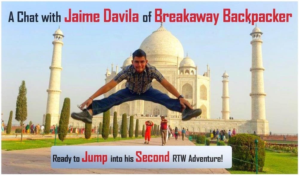 Jaime Davila, breackawaybackpacker, interview, popular travel bloggers interview, clelia mattana, keep calm and travel