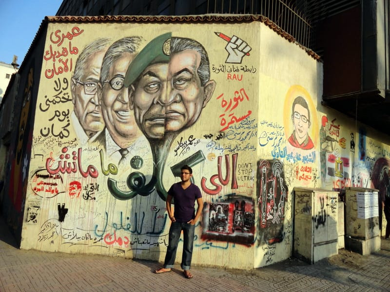 Jaime Davila, breakawaybackpacker, cairo, cairo street art, cairo murales egypt, Jaime davila interview, keep calm and travel, clelia mattana