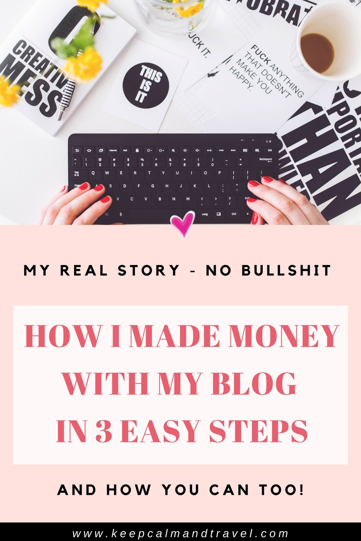 Yes! You can really make money with your blog, even if you don't know where to start! When I launched my blog it was a hobby, now I earn real money and it's become my full-time job (while traveling the world). Read my top 3 easy ways I used to monetize my website and started making money immediately. It is really possible and I have the proof with screenshots and more!