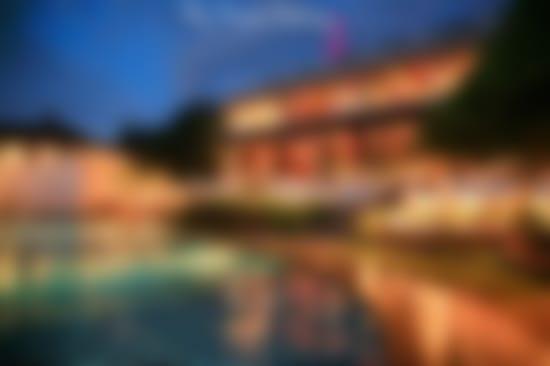 hotel-by-night blurred