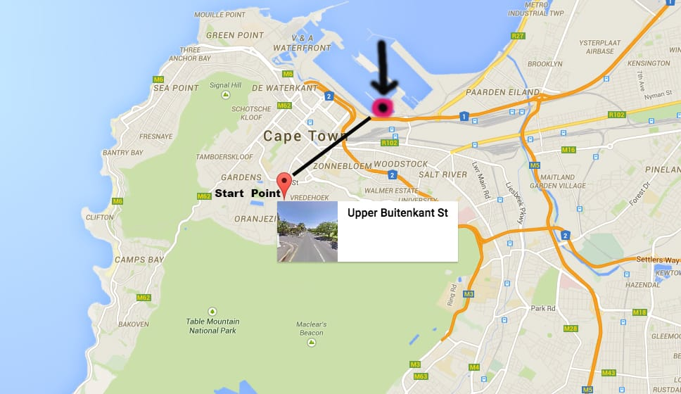 Cape Town underground tunnel entrance