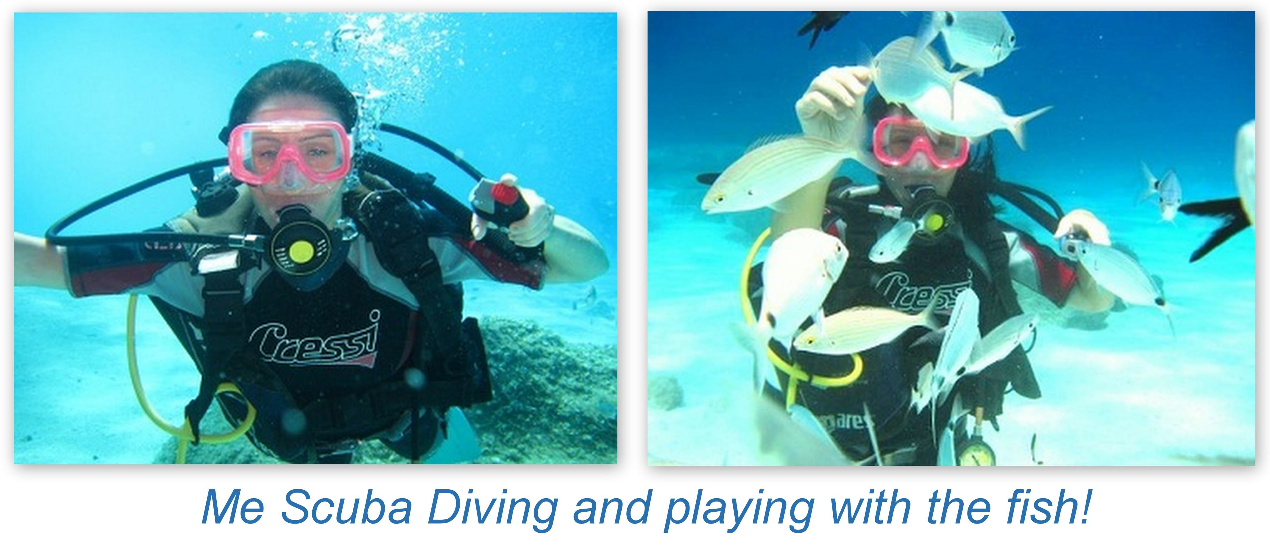 collage clelia scuba diving