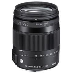 sigma lens 18-200 mm for canon