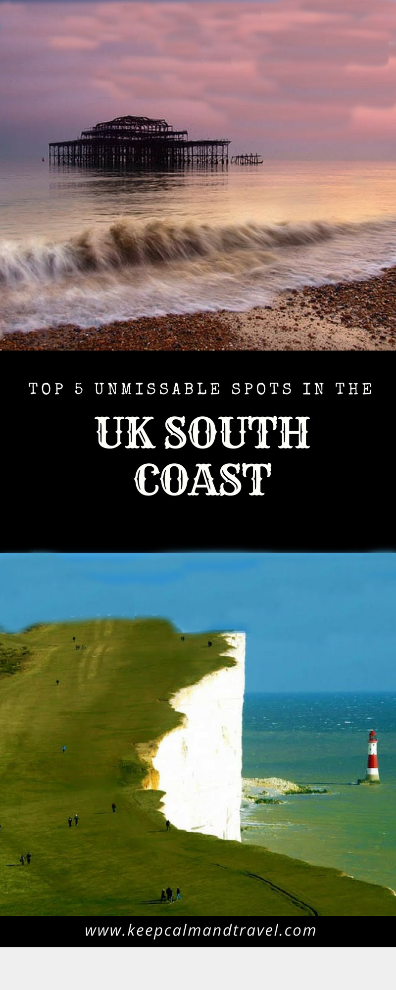 Don't Miss the top 5 spots in South England, lovely landscapes and great activities to try out! #England #Brighton #Eastbourne #SouthEngland #UK #Travel