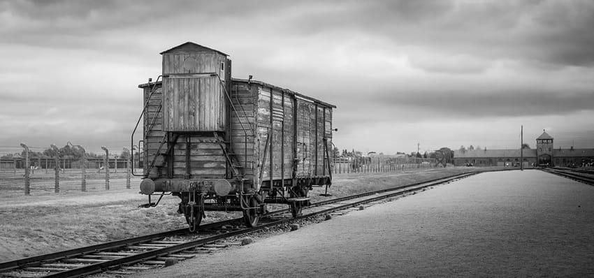 visit_Auschwitz_Birkenau_concentration_camps_holocaust_images_train_inside_Birkenau