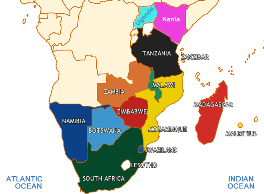 AFRICA-MAP-SOUTHERN-AFRICA-VS-EASTERN-AFRICA