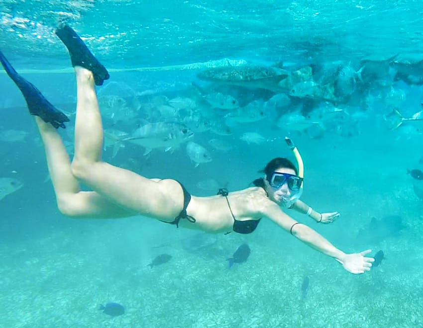 Belize_best_snorkeling_tours_clelia_mattana_swimming_among_fish_sharks_turtles