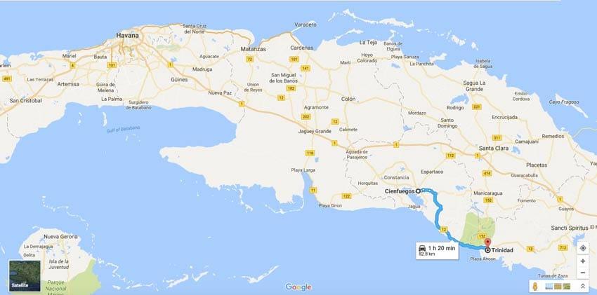 CUBA_MAP_ITINERARY_FROM_TRINIDAD_TO_CIENFUEGOS