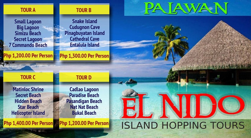 El_Nido_Boat_trip_tours_A_B_C_D_details_prices_Beaches