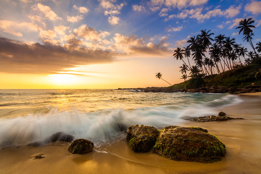 SRI-LANKA-BEACH-Sunset-on-the-beach-with-coconut-palms.-Sri-Lanka