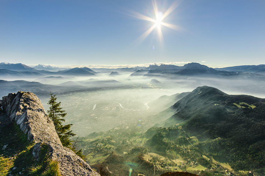 French_alps_family_vacation_ideas-View-of-the-foggy-green-valley-in-French-Alps-near-Grenoble