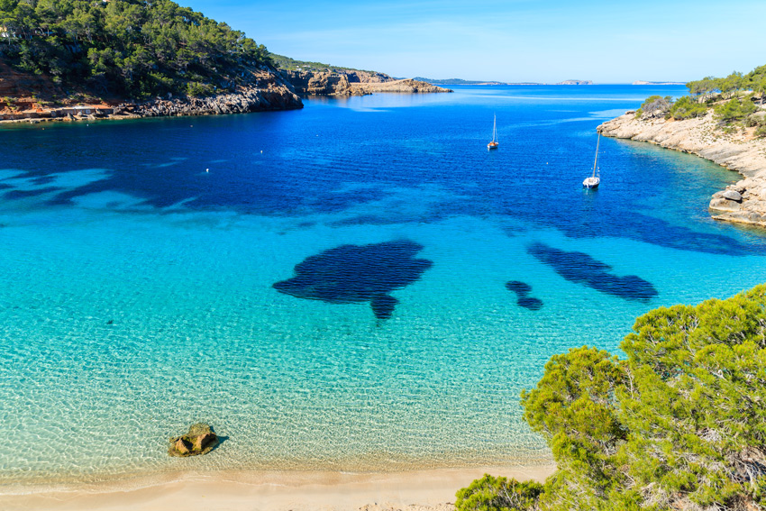 ibiza spain nine best beaches hotels to see in the. Black Bedroom Furniture Sets. Home Design Ideas