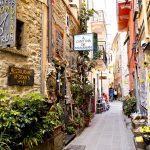 Italia-Cinque-Terre-Liguria-CORNIGLIA-strada-Italia