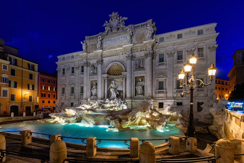 ROME-THINGS-TO-DO-AND-SEE-Night-view-of-Rome-Trevi-Fountain-(Fontana-di-Trevi)-Italy-Trevi-is-most-famous-fountain-of-Rome