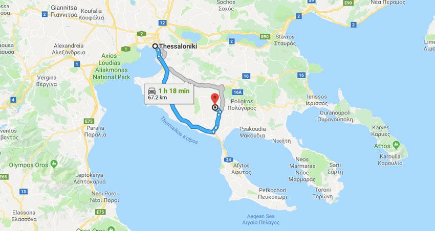 thessaloniki-to-halkidiki-chalkidiki-region-by-car-map