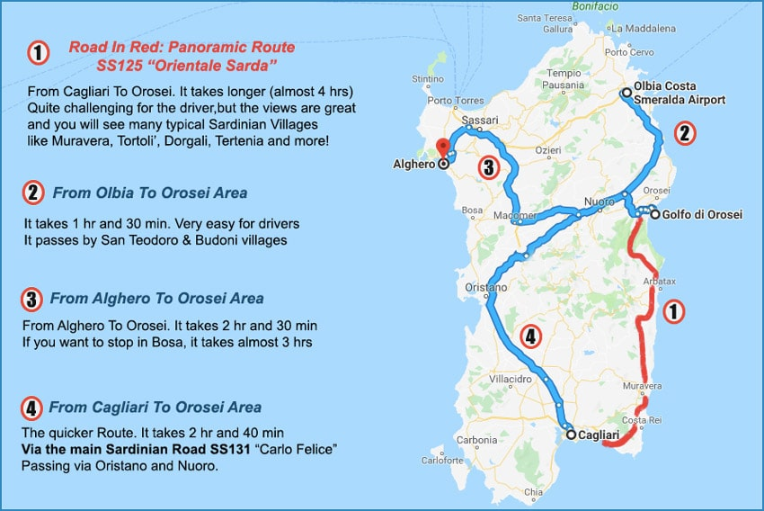 SARDINIA-MAP-HOW-TO-GET-TO-THE-GOLFO-DI-OROSEI-BY-CAR-BUS-AND-TRAINS