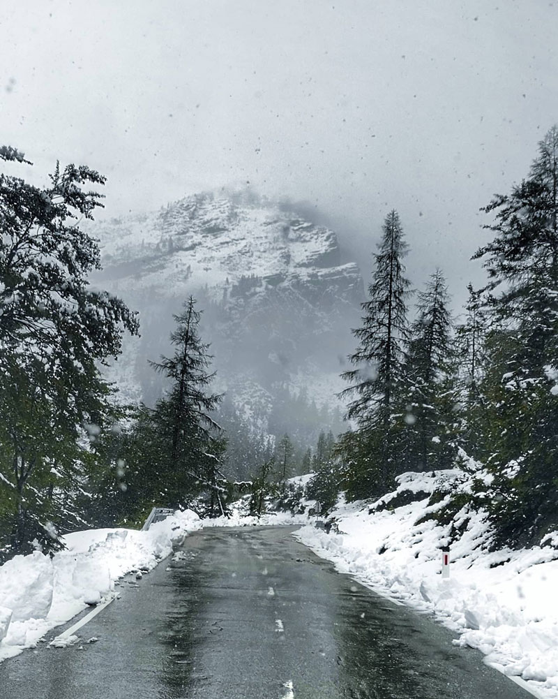 Vrsic-Pass-snow-visit-slovenia-in-one-week-itinerary-by-campervan