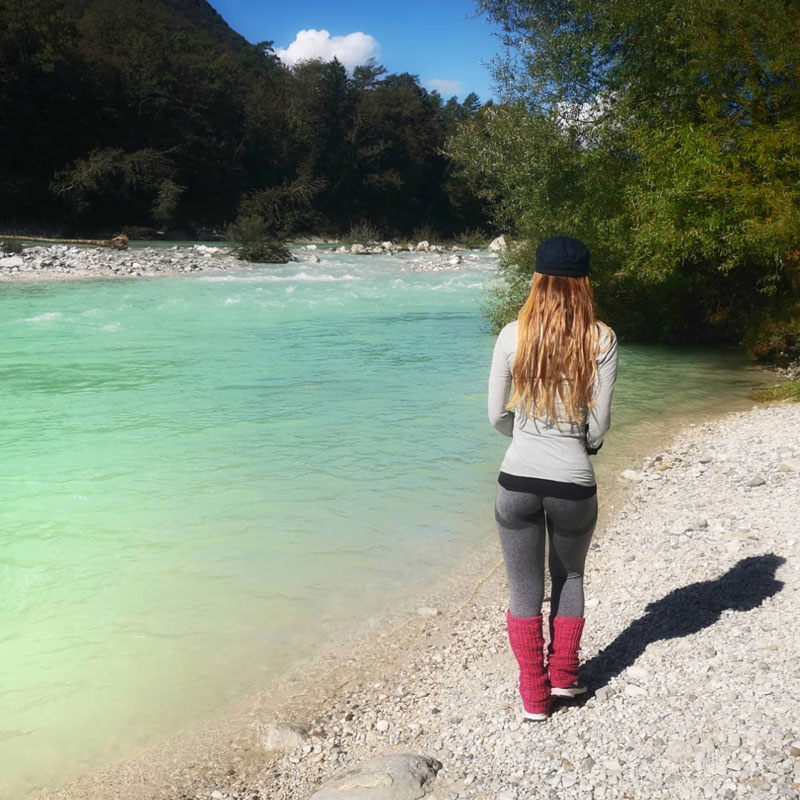 walking-on-the-side-of-soca-river-slovenia-in-one-week-itinerary